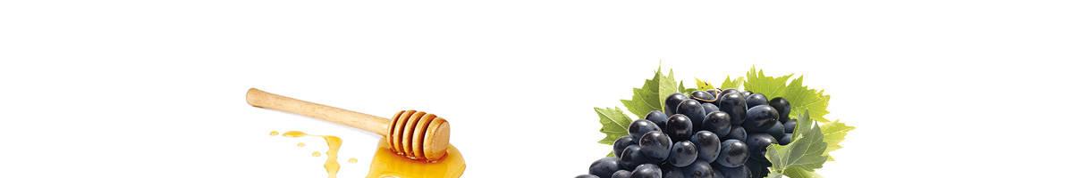 Εικόνα με σταφύλια και μέλι - Image showing grapes and honey